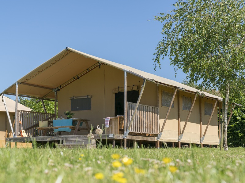 TENTE TOILE ET BOIS 6 personnes - Glamping Woody Lodge, 2 chambres sans sanitaires