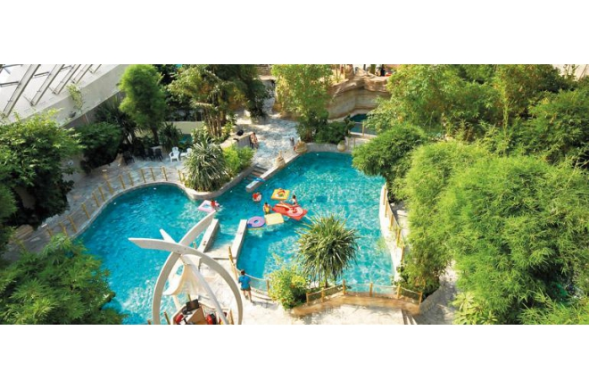 Center parcs domaine des trois for ts camping hattigny for Piscine center parc moselle