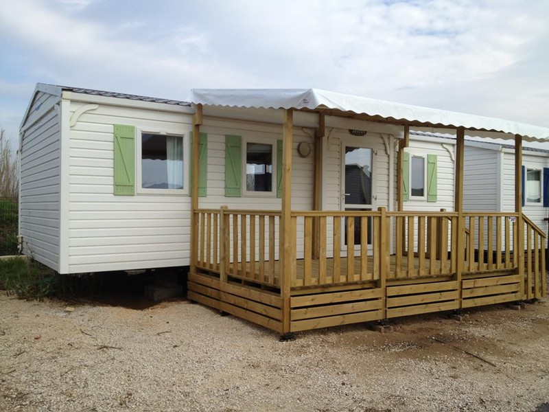 MOBILHOME 6 personnes - 3 chambres, bord d'étang, 31m2