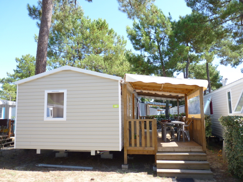 MOBILHOME 8 personnes - Luxe 40m², 3 chambres + TV + LL + 2 vélos adultes