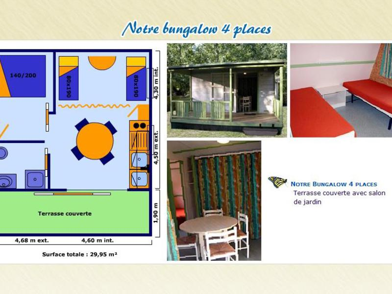 BUNGALOW 4 personnes - MICRO-ONDE
