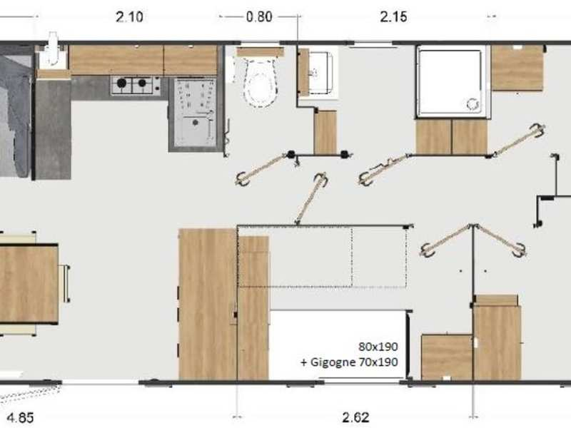 MOBILHOME 8 Personen - Excellence 3 chambres + clim