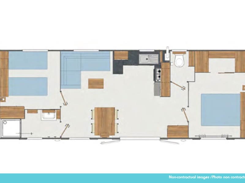 MOBILHOME 6 personnes - Excellence 2 chambres