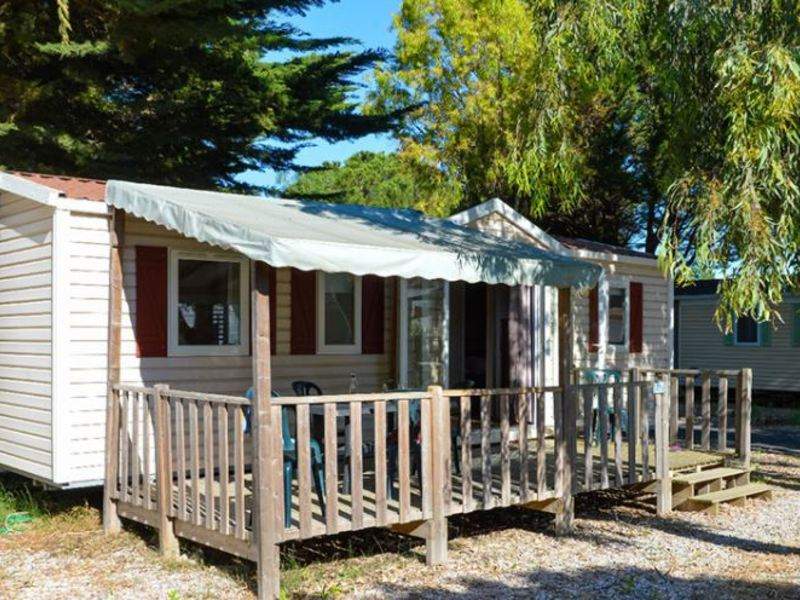 MOBILHOME 6 personnes - SANTORIN - 3 chambres + terrasse + climatisation