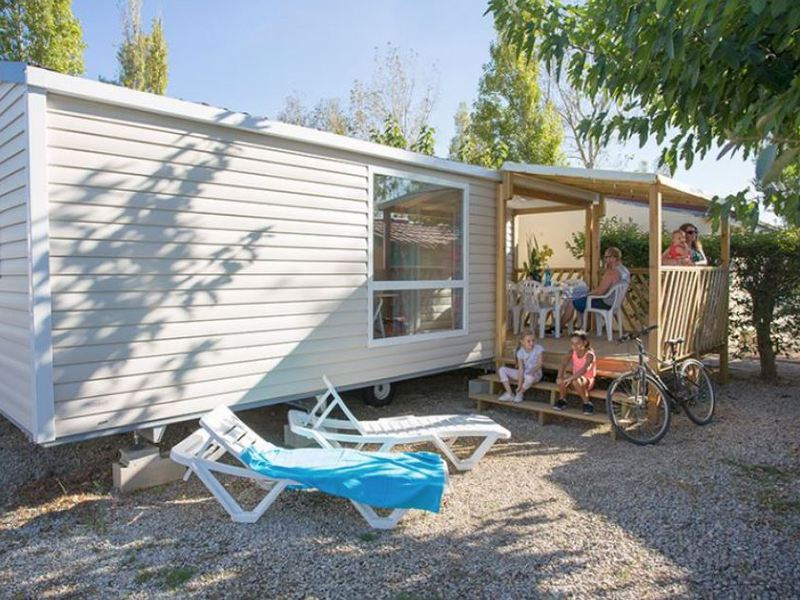 MOBILHOME 6 personnes - PERLE - 2 chambres + terrasse + climatisation