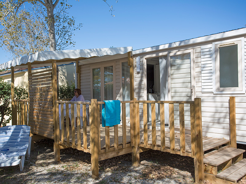 MOBILHOME 6 personnes - MAGNOLIA - 2 chambres + terrasse + climatisation